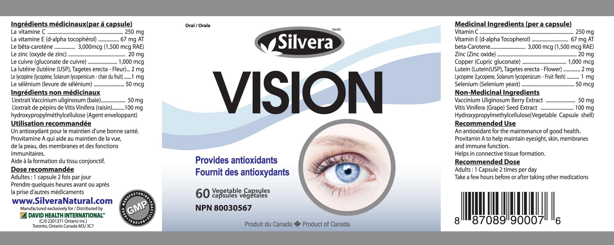 Silver 21 Vision 60 Veggie Capsules