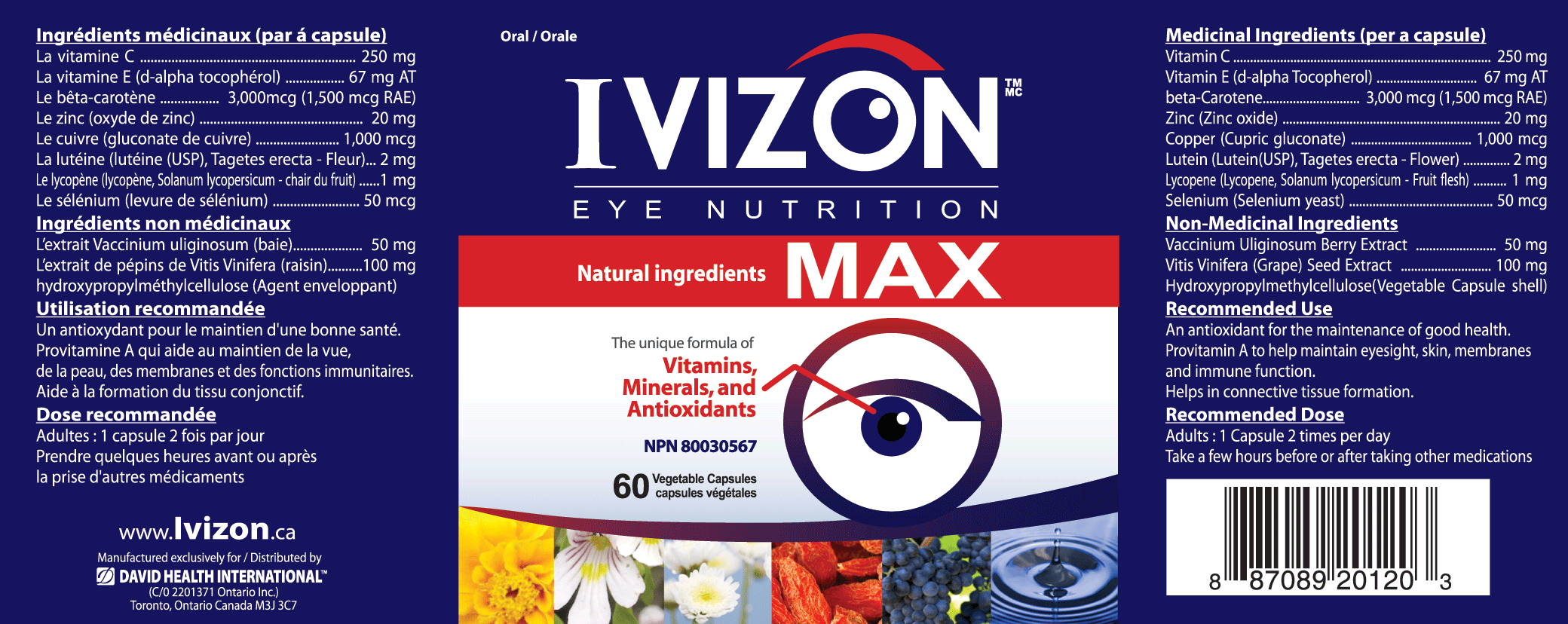 Ivizon Max 500 mg 60 Vcaps - 6 PACK