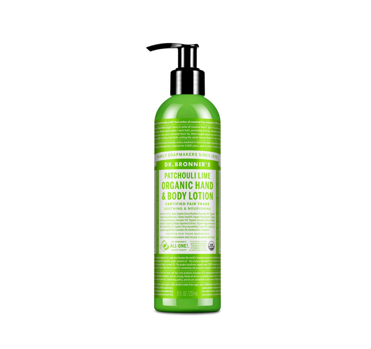Dr. Bronner's Organic hand & body lotion (Patchouli & Lime) 237ml