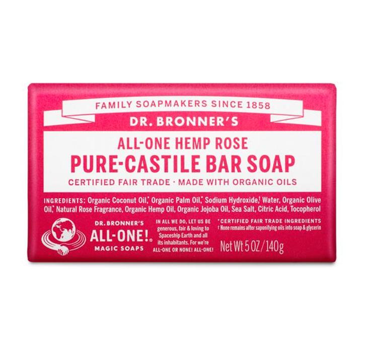 Dr. Bronner's Pure Castile Bar Soap Rose