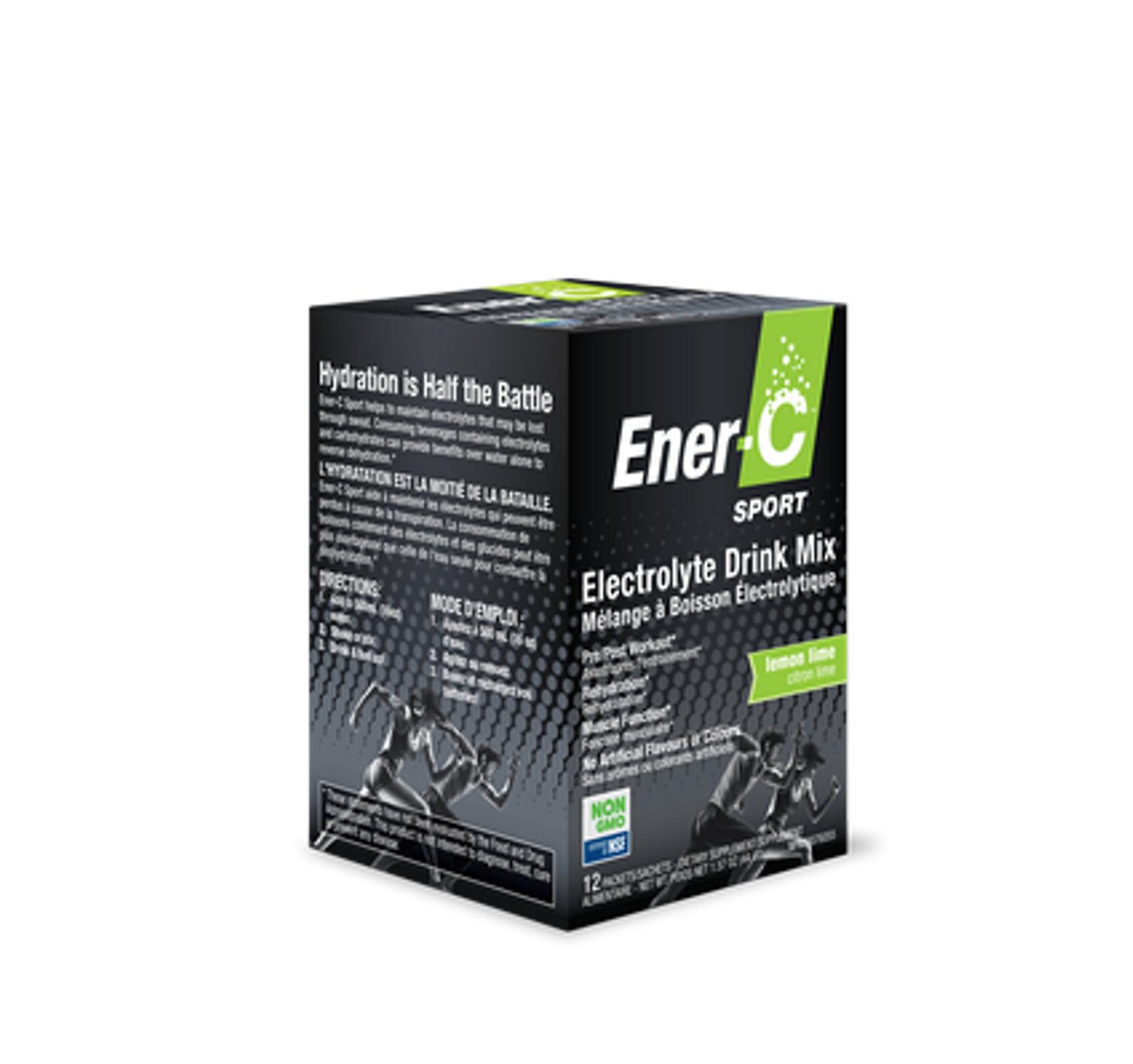 Ener-C Sport Electrolyte Drink Mix - Lemon Lime 12 packs