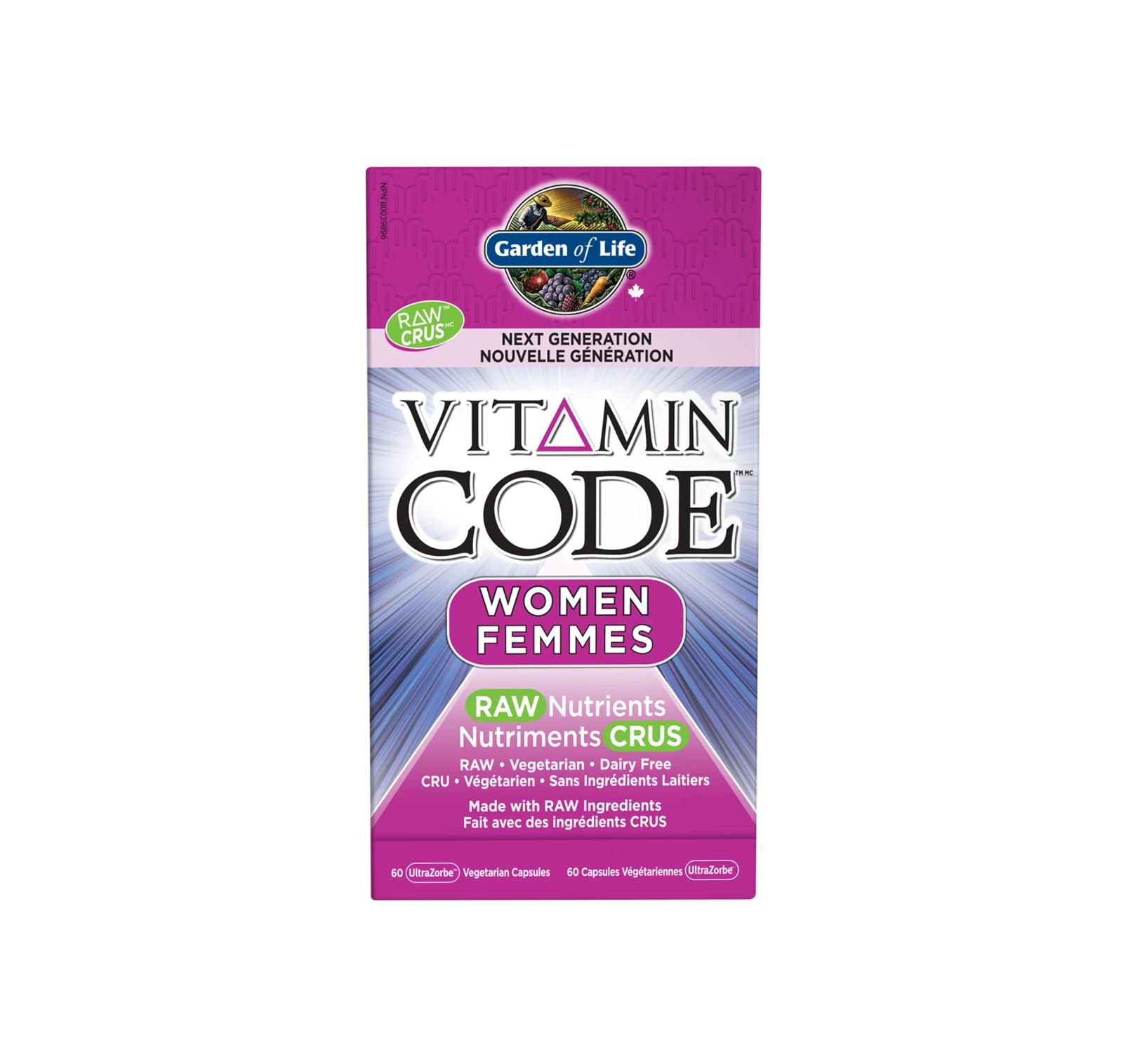 Garden of Life Vitamin Code Women Raw Nutrients 60 UltraZorbe Veggie Capsules